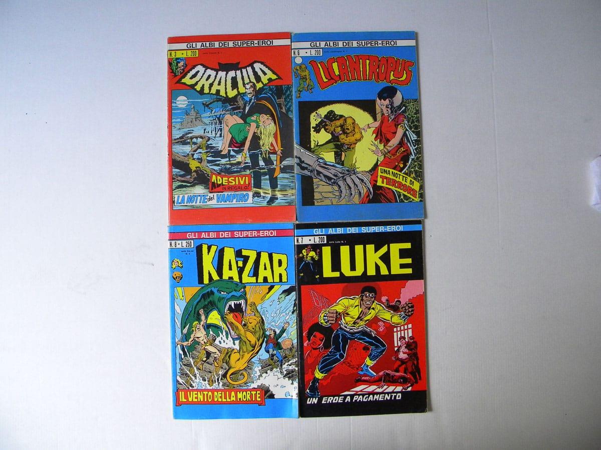 Albi Supereroi n. 3 – 6 – 7 – 8 Corno