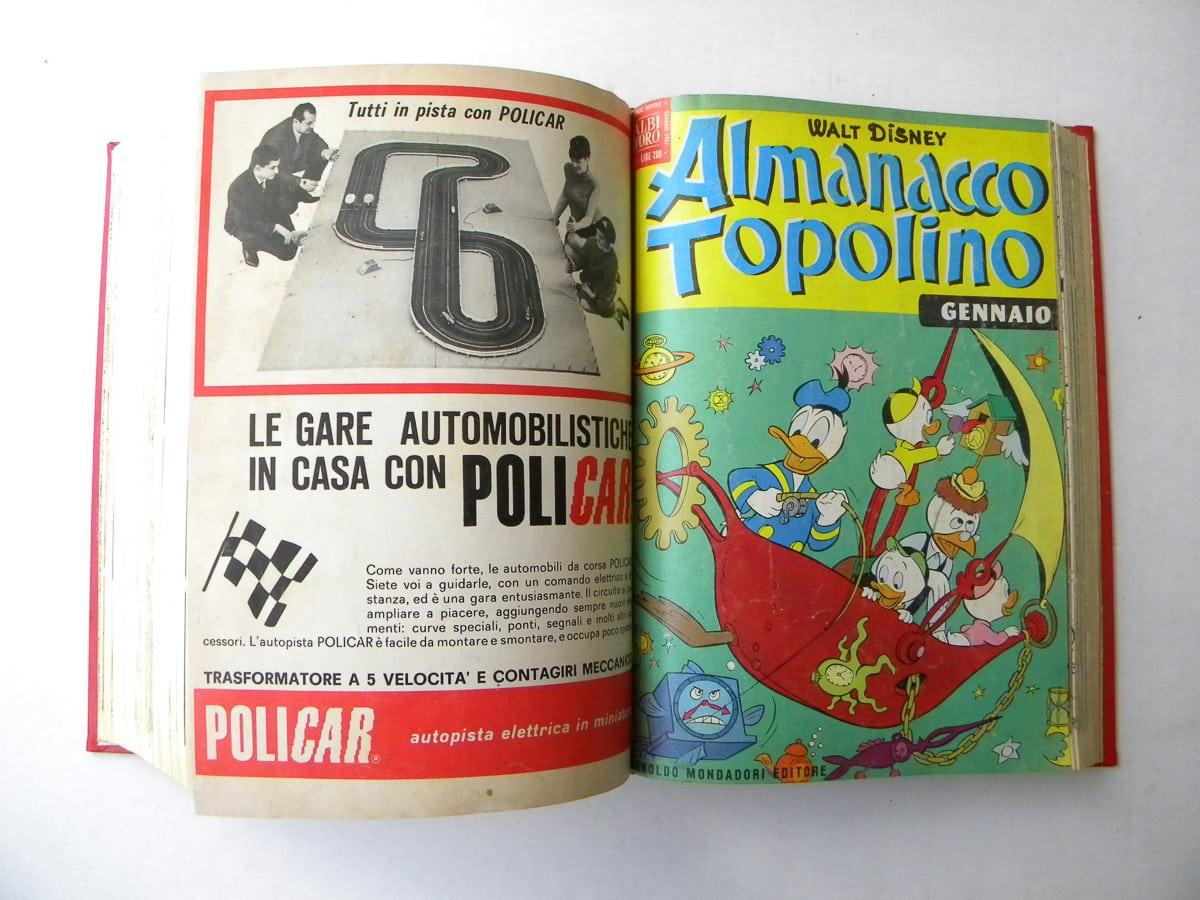 Almanacco di Topolino Albi d'Oro 4 volumi rilegati Mondadori