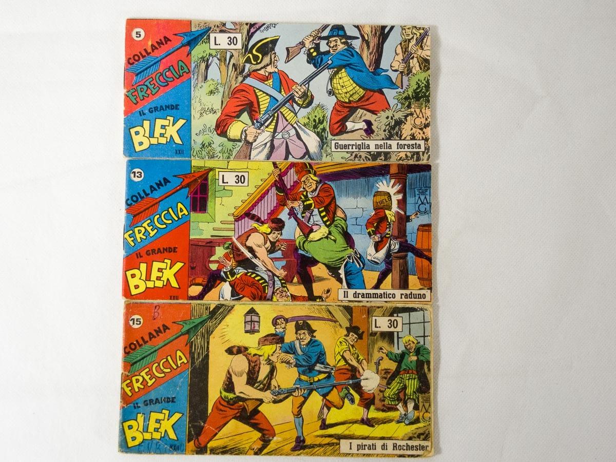 Blek Collana Freccia XXII serie n. 5 – 13 – 15 Dardo