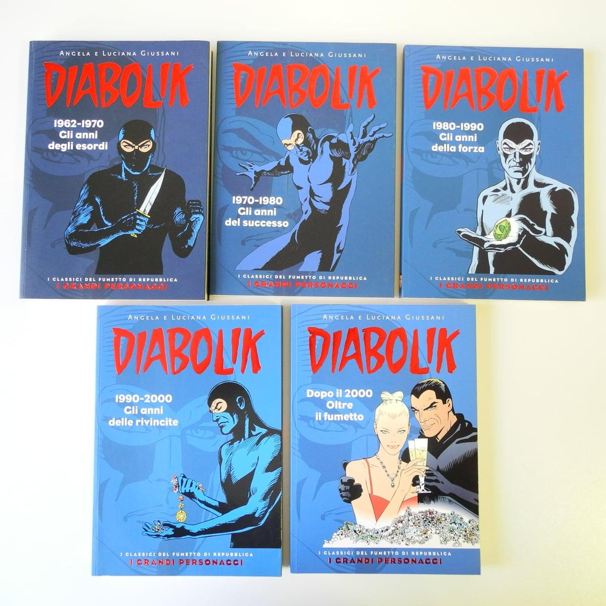 Diabolik I Grandi Personaggi serie completa n. 1/5 Repubblica