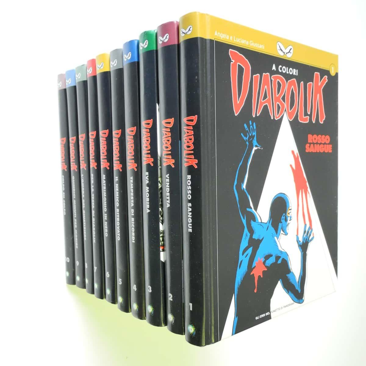 Diabolik a Colori serie completa n. 1/10 Panorama (2)