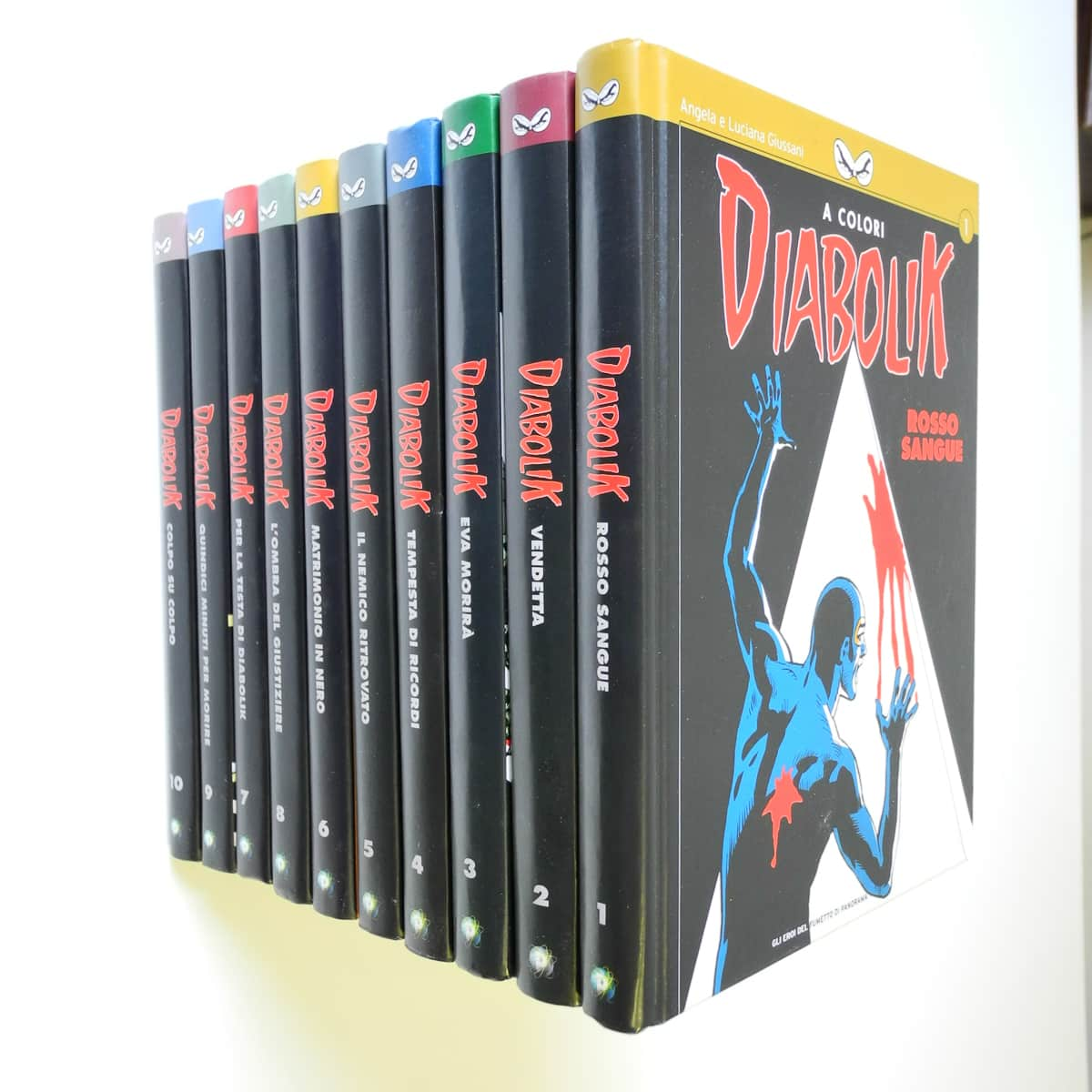 Diabolik a Colori serie completa n. 1/10 Panorama