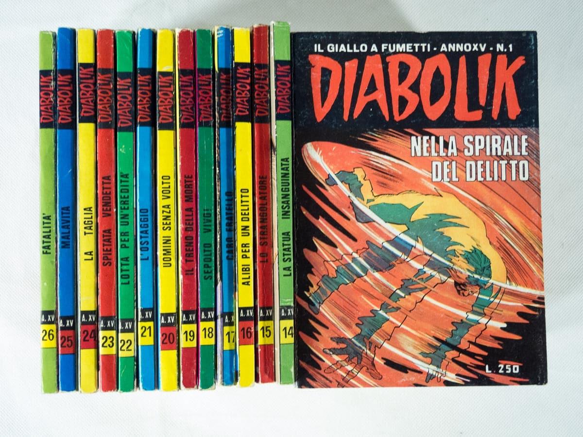 Diabolik anno XV completo n. 1/26 originali Astorina
