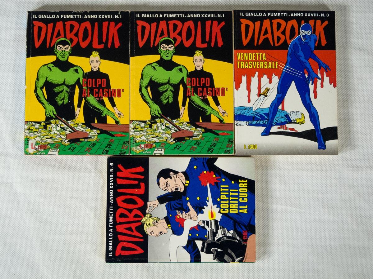 Diabolik anno XXVIII lotto Astorina originali