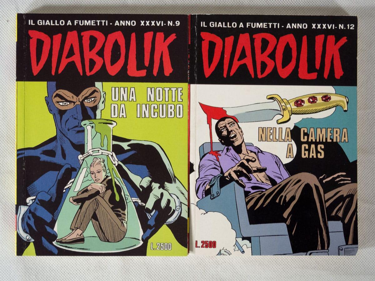 Diabolik anno XXXVI n. 9 e 12 originali Astorina