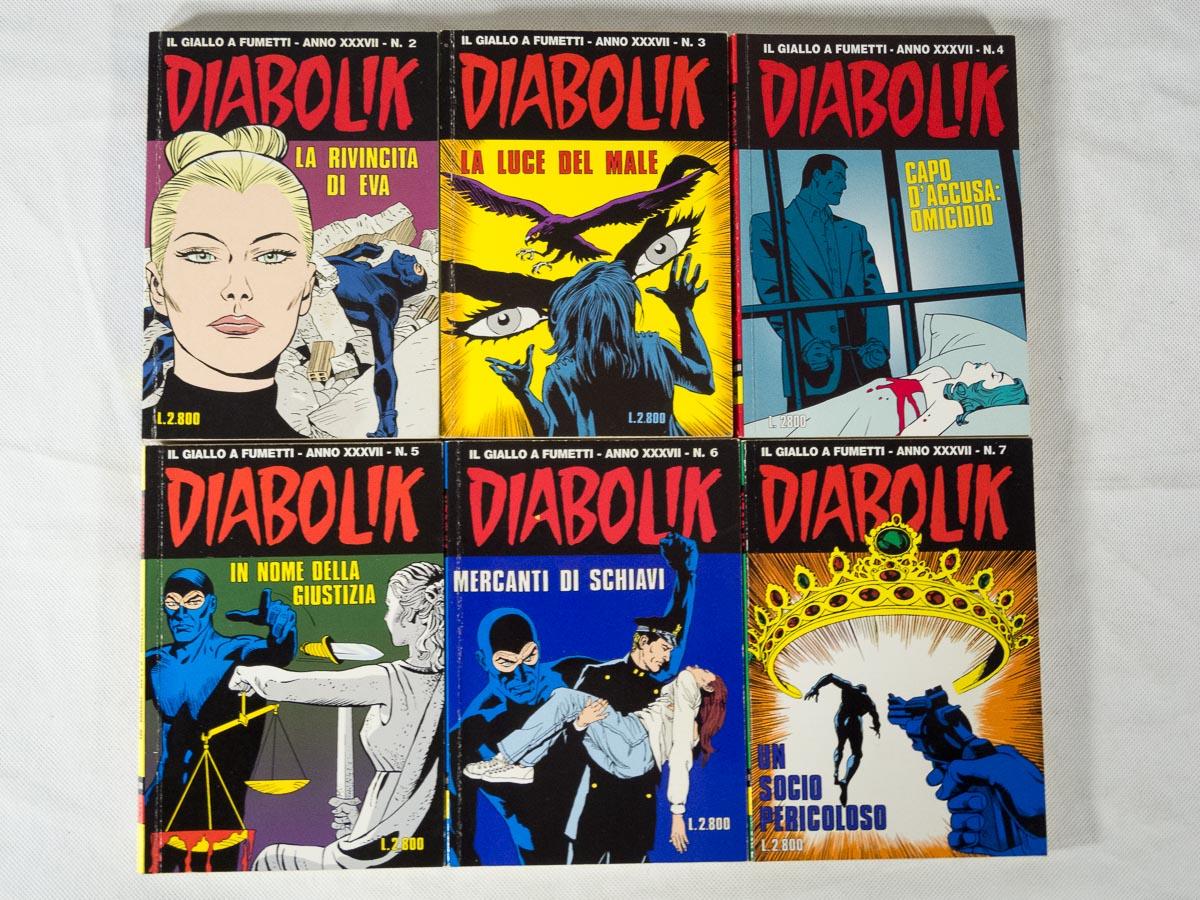 Diabolik anno XXXVII originali lotto Astorina