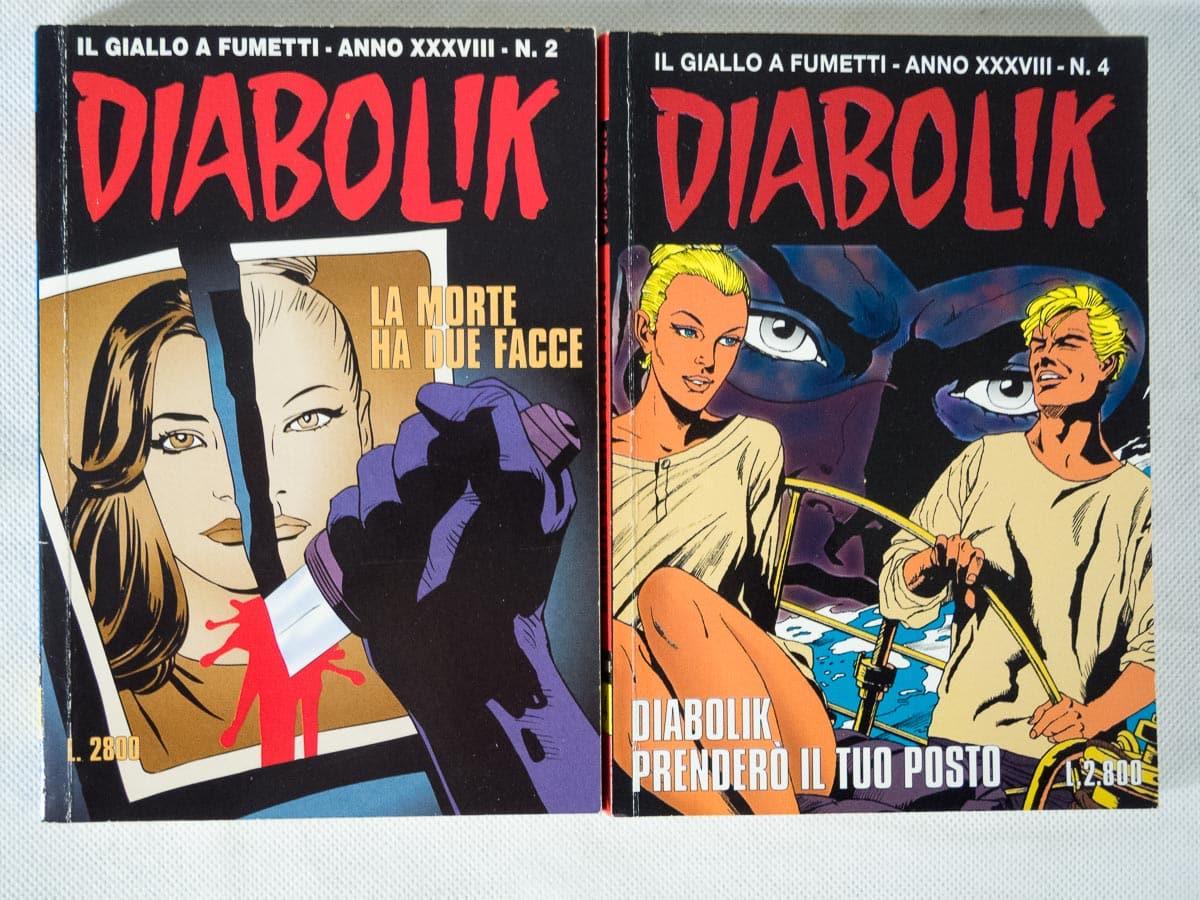 Diabolik anno XXXVIII n. 2 e 4 originali Astorina
