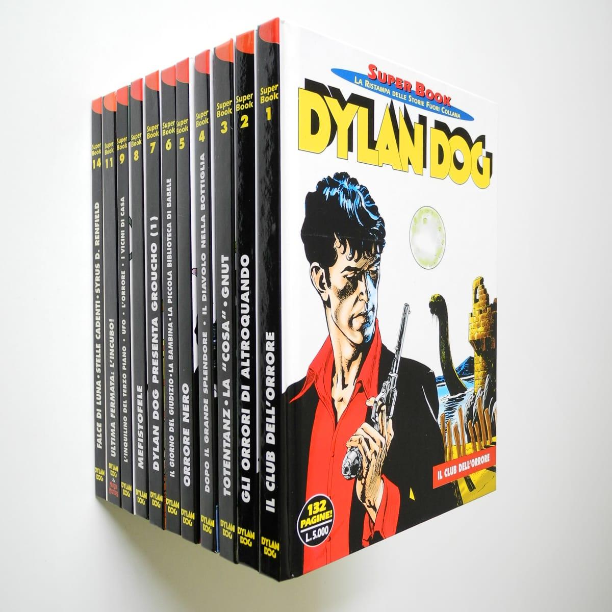 Dylan Dog Super Book sequenza completa n. 1/9, 11, 14 Bonelli
