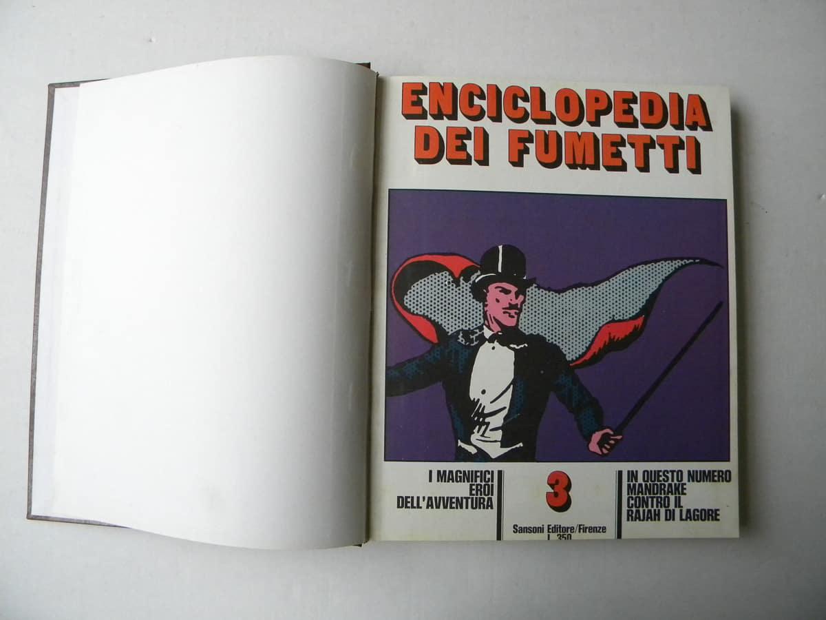 Enciclopedia dei Fumetti blocco Sansoni