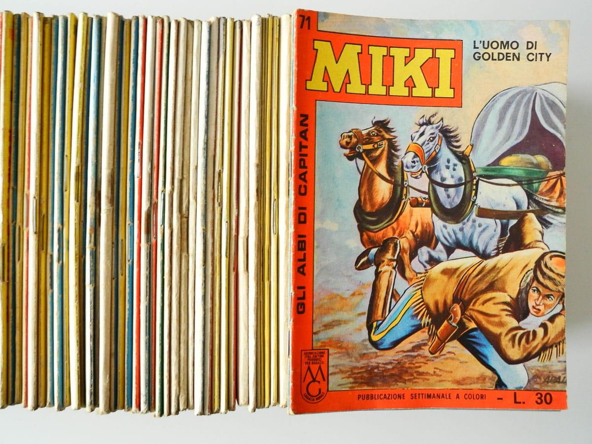 Gli Albi di Capitan Miki edizioni Dardo