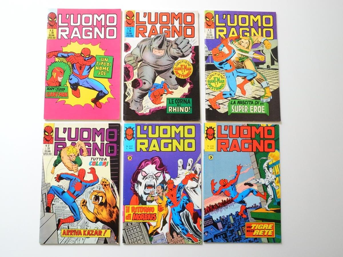 Fumetti dei supereroi de L'Uomo Ragno Corno