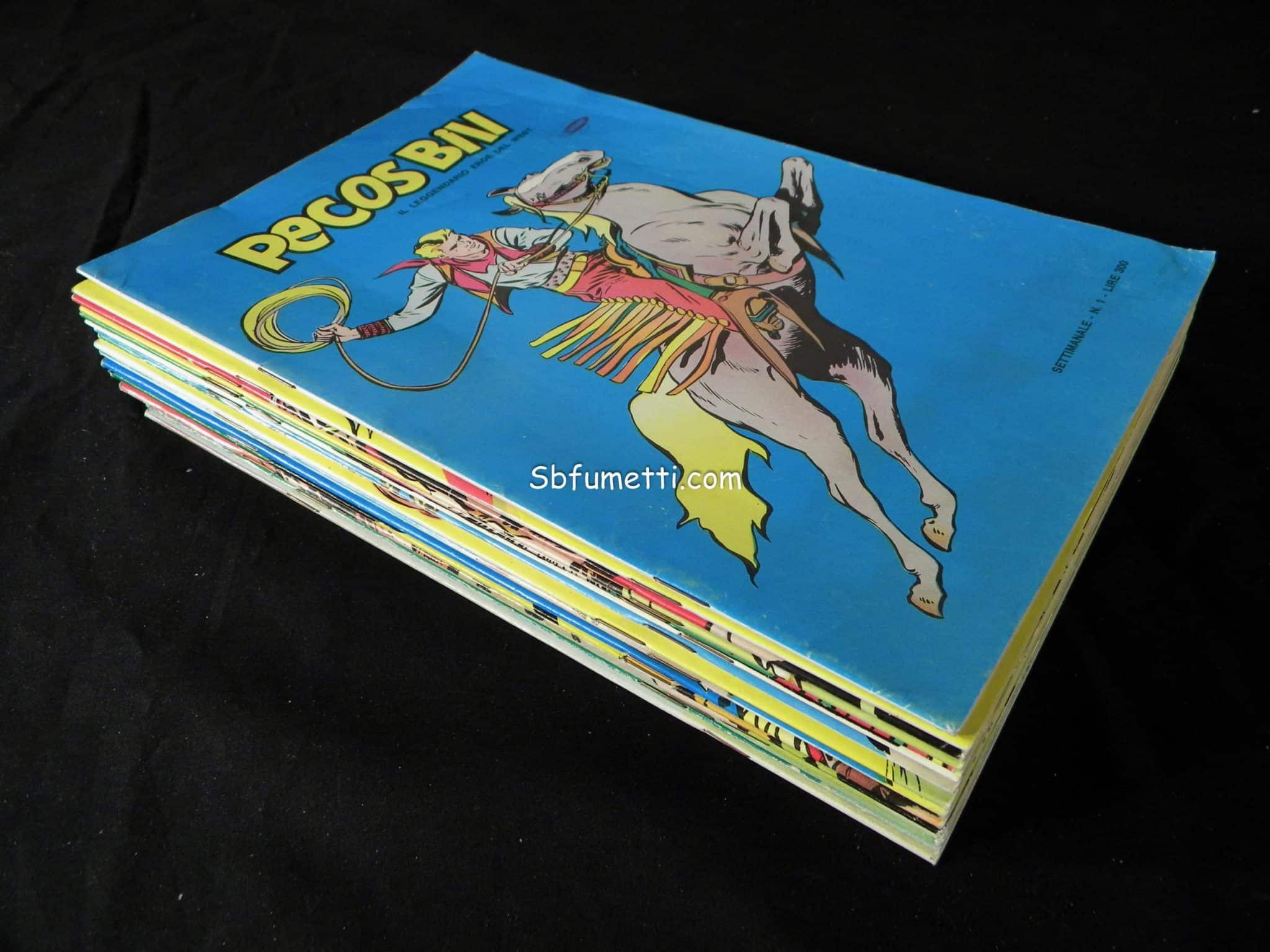 Pecos Bill serie completa n. 1/22 con poster Epierre