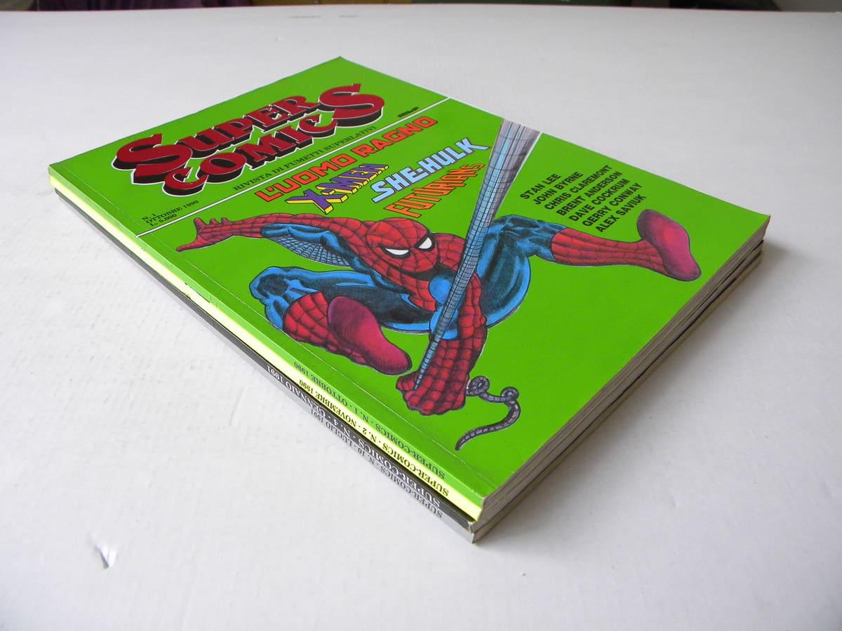 Fumetti dei supereroi di Super Comics n. 1/4 e 10 Marvel