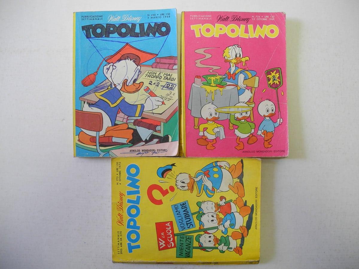 Topolino n. 640 – 724 – 775 originali