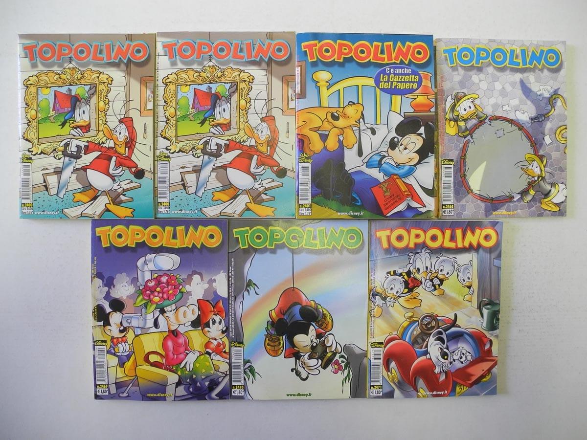 Topolino fascia n. dal 2400 al 2471 originali