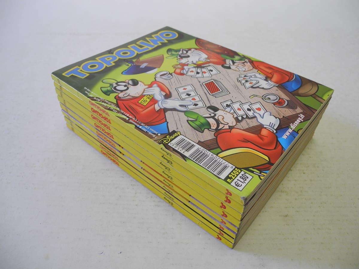 Topolino fascia n. dal 2502 al 2525 originali